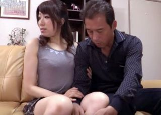 Cheating Housewife Hardly Wait To Her Daughter Leave The Room So She Could Fuck With Husbands Best Friend