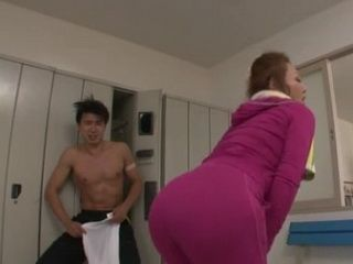 Milf Instructor Minegishi Fujiko Enter In Male Locker Room And Start Acting Totally Strange