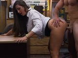 Blackmailed Big Ass Girl Fucked at Pawn Shop With Big Cock