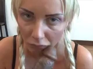 Blonde Giving A Blowjob POV