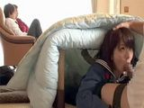 Occupied With Watching TV Daddy Didn't Have Clue What His Lovely Daughter Doing Few Meters Away