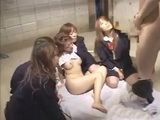 Japanese Teens In Reverse Gangbang