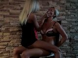 Tied Up Woman StrapOn Fucked By Lesbian Mistress