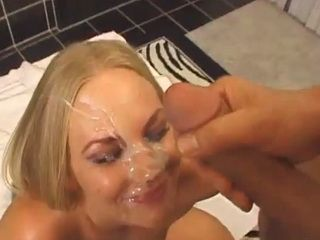 Riley Roberts perfect blowjob and gets facialed