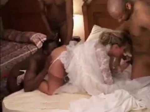 White Bride Gangbanged At Her Wedding Day By Black Guys