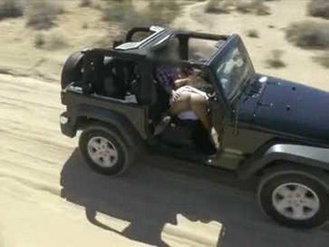 Voyeur Tapes With Drone Couple Having Sex In The Car In The Middle Of Desert