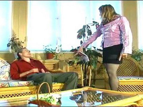 Amazed Russian Aunt Caught Husbands Nephew Masturbating On Porn Magazine