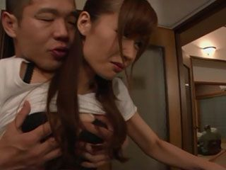 While Daddy Still Eating His Dinner Horny Boy Took Opportunity To Swoop And Fuck Busty New Stepmom Lin Yuna In Kitchen