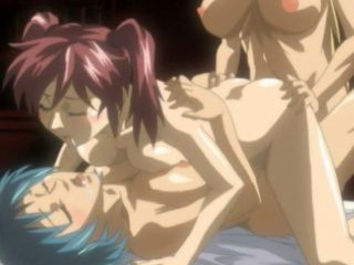 Sexy hentai shemale hot threesome gangbanged