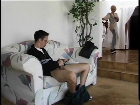 MILF Stepmom Catches Stepson While Masturbating