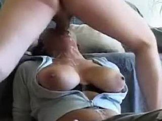 Girl With Big Tits Receives Dick Deep Into Her Throat