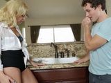 Hot Blonde Wife Cuckold Hubby With Young Plumber