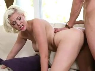 Busty Blonde Fucking A Thick Cock