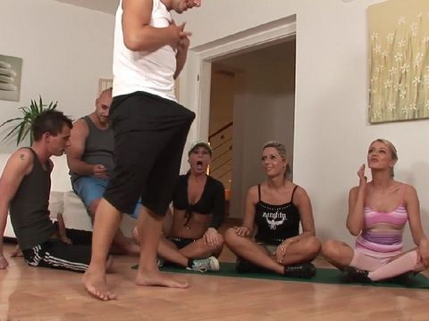 Girl Gets Interrupted While Practicing Yoga