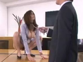 Boss Takes Advantage On His Busty Japanese Secretary