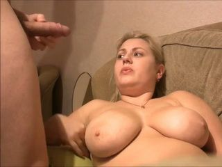 Chubby Amateur With Huge Natural Boobs Gets Facial Cumshot