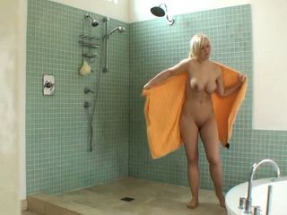 Busty Chick Taking Quick Showering Before Pov Style Homemade Fucking