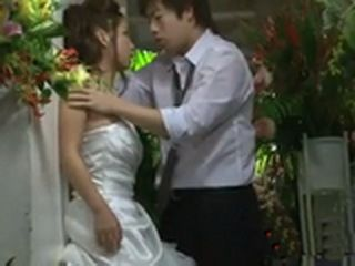 Japanese Bride Fucks On Wedding Ceremony Best Man