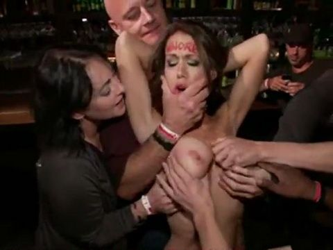 Dirty Whore Expirienced Humiliation In The Club