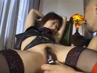 Bound Japanese Girl Toyed With Dildo Uncensored