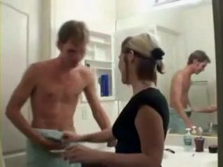 Naughty Teen Corners Her Shy Relative In The Bathroom