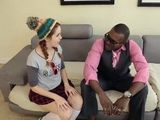 Amarna gets drilled again and again by the big black cock