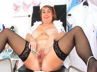 Naughty head practical nurse opening her handsome vagina
