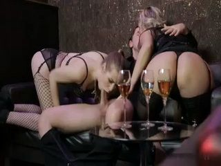 Wife Caught Her Hubby Fucking A Two Hot MILF Sluts In Private Room in a Night Bar