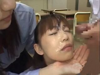 Japanese Girls Sharing Cum
