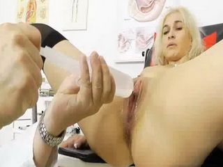 Amazing blonde wife gets her wet pussy tested