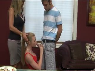 Nympho Stepmom Encouraging Teen To Suck Bfs Cock And Showing Her How To Do It Right - Avril Hall and Kristal Summers