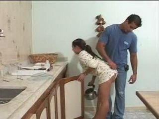 Pervert Boss Has Just One More Duty For Sexy Latina Maid Before She Go Home