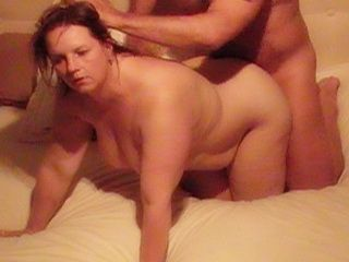 Fucking a Hot Plumper Wife Doggie