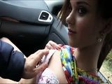 Perky Tits Gal Lea Guerlin Jizzed On Ass In A Car