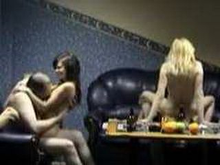 Two Mates Fucked Two Sexy Whores In Group Sex Party