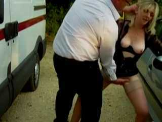 Cheap Street Hooker Gets Her Clit Drilled and Cumshot Allbody By Horny Truck Drivers