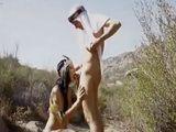 Tunisian Beauty Sucks And Fucks Cock In Desert