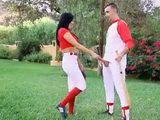 Busty Softball Babe is Very Skilled Handling the Cock