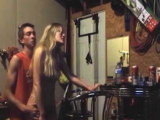 Drunken Party Chick Fucks In A Dads Garage
