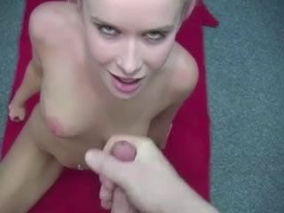 Cock Craving Girl Kneels In Front Of Me For A Facial
