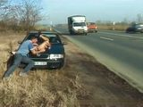 Hungarian Street Hooker Fucked By The Busy Road In Broad Daylight