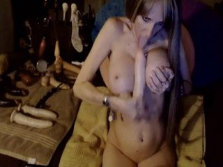Hot and Busty Blonde Milf Has Some Awesome Anal Toy Collection