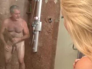 Curious Blonde Stepdaughter Loves To Watch Old Cock