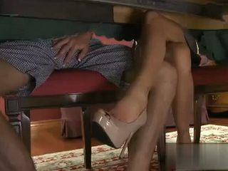 Nympho Mom Poking Daughters Bf Under Table on Family Lunch Got Fucked Later