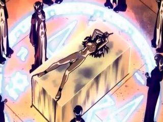 Hardcore anime with ritual creampie