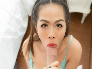 Ladyboy Pook On A Huge Raw Cock