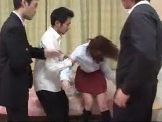 Poor Schoolgirl Rino Mizusawa Mistreated Badly By Dads So Called Friends Uncensored