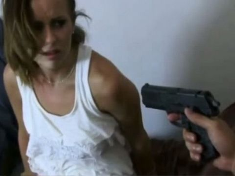 Terrified Home Alone Woman Gets Brutally Fucked Under The Gun Threat