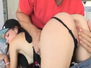 Petite Kiera Winters nailed by big cock