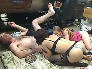 Older Man Fuck Two Young Prostitutes
